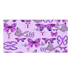 Purple Awareness Butterflies Satin Shawl