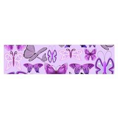 Purple Awareness Butterflies Satin Scarf (oblong)