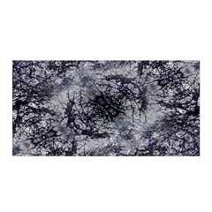 Nature Collage Print  Satin Wrap