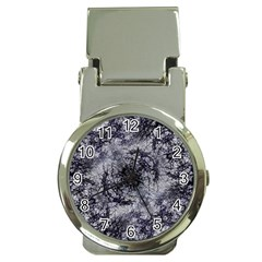 Nature Collage Print  Money Clip With Watch