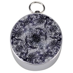 Nature Collage Print  Silver Compass