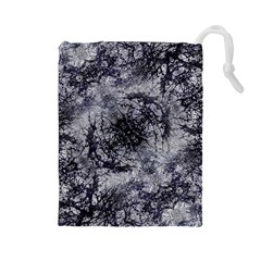 Nature Collage Print  Drawstring Pouch (Large)