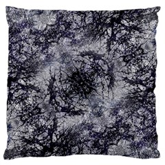Nature Collage Print  Large Flano Cushion Case (one Side)