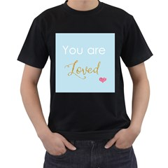You are Loved Men s T-Shirt (Black) (Two Sided)