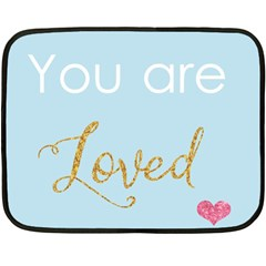 You Are Loved Double Sided Fleece Blanket (mini)