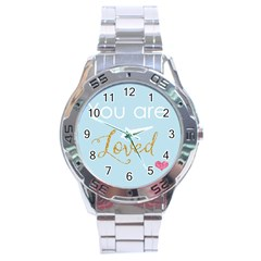 You Are Loved Stainless Steel Analogue Men's Watch