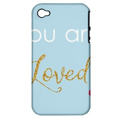 You Are Loved Apple Iphone 4/4s Hardshell Case (pc+silicone)