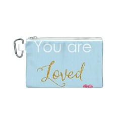 You are Loved Canvas Cosmetic Bag (Small)
