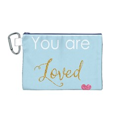 You are Loved Canvas Cosmetic Bag (Medium)
