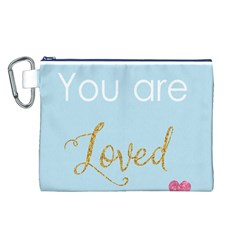 You are Loved Canvas Cosmetic Bag (Large)