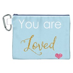 You are Loved Canvas Cosmetic Bag (XXL)