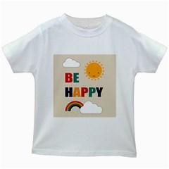 Be Happy Kids T-shirt (White)