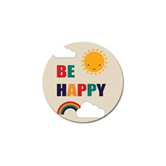 Be Happy Golf Ball Marker 10 Pack