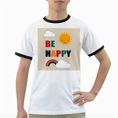 Be Happy Men s Ringer T-shirt