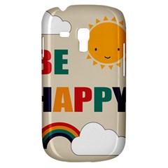 Be Happy Samsung Galaxy S3 Mini I8190 Hardshell Case
