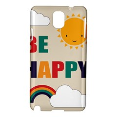 Be Happy Samsung Galaxy Note 3 N9005 Hardshell Case