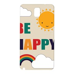 Be Happy Samsung Galaxy Note 3 N9005 Hardshell Back Case