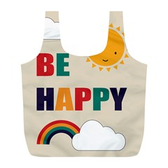 Be Happy Reusable Bag (l)