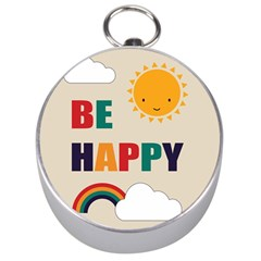 Be Happy Silver Compass