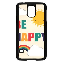 Be Happy Samsung Galaxy S5 Case (Black)