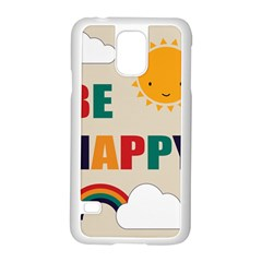 Be Happy Samsung Galaxy S5 Case (White)