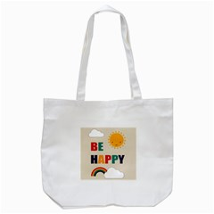 Be Happy Tote Bag (White)