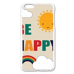 Be Happy Apple iPhone 6 Plus Enamel White Case