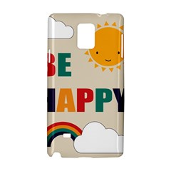 Be Happy Samsung Galaxy Note 4 Hardshell Case