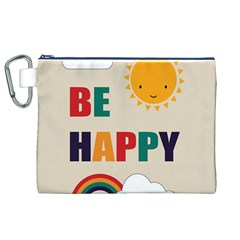 Be Happy Canvas Cosmetic Bag (XL)