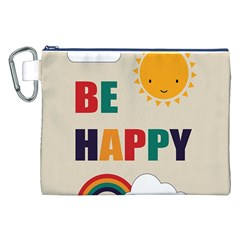 Be Happy Canvas Cosmetic Bag (XXL)