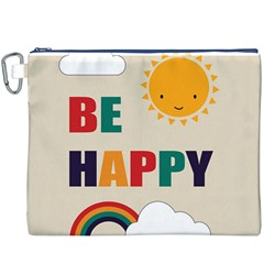 Be Happy Canvas Cosmetic Bag (XXXL)