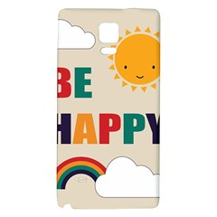 Be Happy Samsung Note 4 Hardshell Back Case
