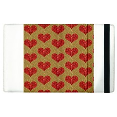 Sparkle Heart  Apple Ipad 3/4 Flip Case