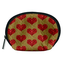Sparkle Heart  Accessory Pouch (Medium)