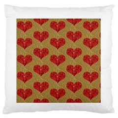 Sparkle Heart  Standard Flano Cushion Case (one Side)
