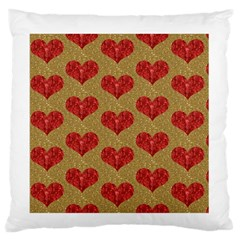 Sparkle Heart  Large Flano Cushion Case (One Side)