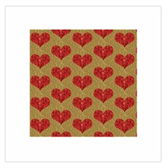 Sparkle Heart  Large Satin Scarf (square)