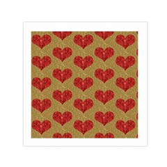 Sparkle Heart  Small Satin Scarf (square)
