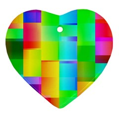 Colorful Gradient Shapes Ornament (heart)