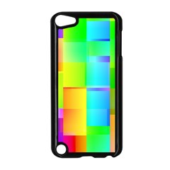 Colorful Gradient Shapes Apple Ipod Touch 5 Case (black)