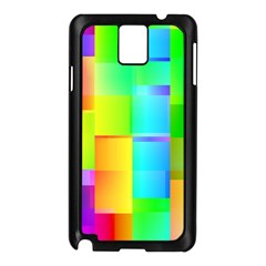 Colorful Gradient Shapes Samsung Galaxy Note 3 N9005 Case (black)