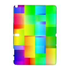 Colorful gradient shapes Samsung Galaxy Note 10.1 (P600) Hardshell Case