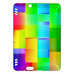Colorful gradient shapes Kindle Fire HDX Hardshell Case