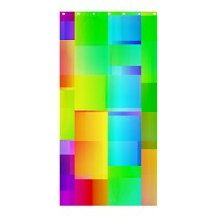 Colorful gradient shapes 	Shower Curtain 36  x 72