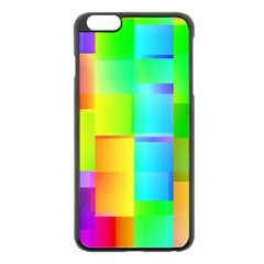 Colorful Gradient Shapes Apple Iphone 6 Plus Black Enamel Case