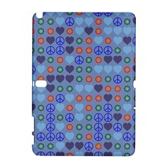 Peace and love Samsung Galaxy Note 10.1 (P600) Hardshell Case