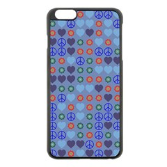 Peace and loveApple iPhone 6 Plus Black Enamel Case