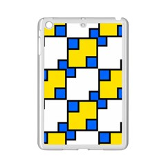 Yellow And Blue Squares Pattern Apple Ipad Mini 2 Case (white)