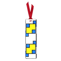 Yellow And Blue Squares Pattern Small Book Mark