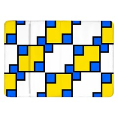 Yellow and blue squares pattern Samsung Galaxy Tab 8.9  P7300 Flip Case
